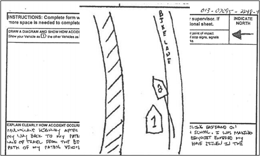 the defendant's drawing of the events
