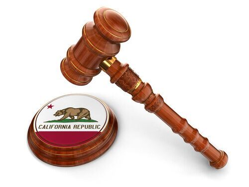 Gavel on CA badge