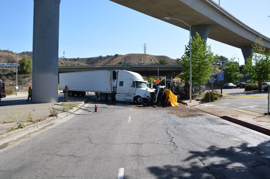 truck accident in Sylmar